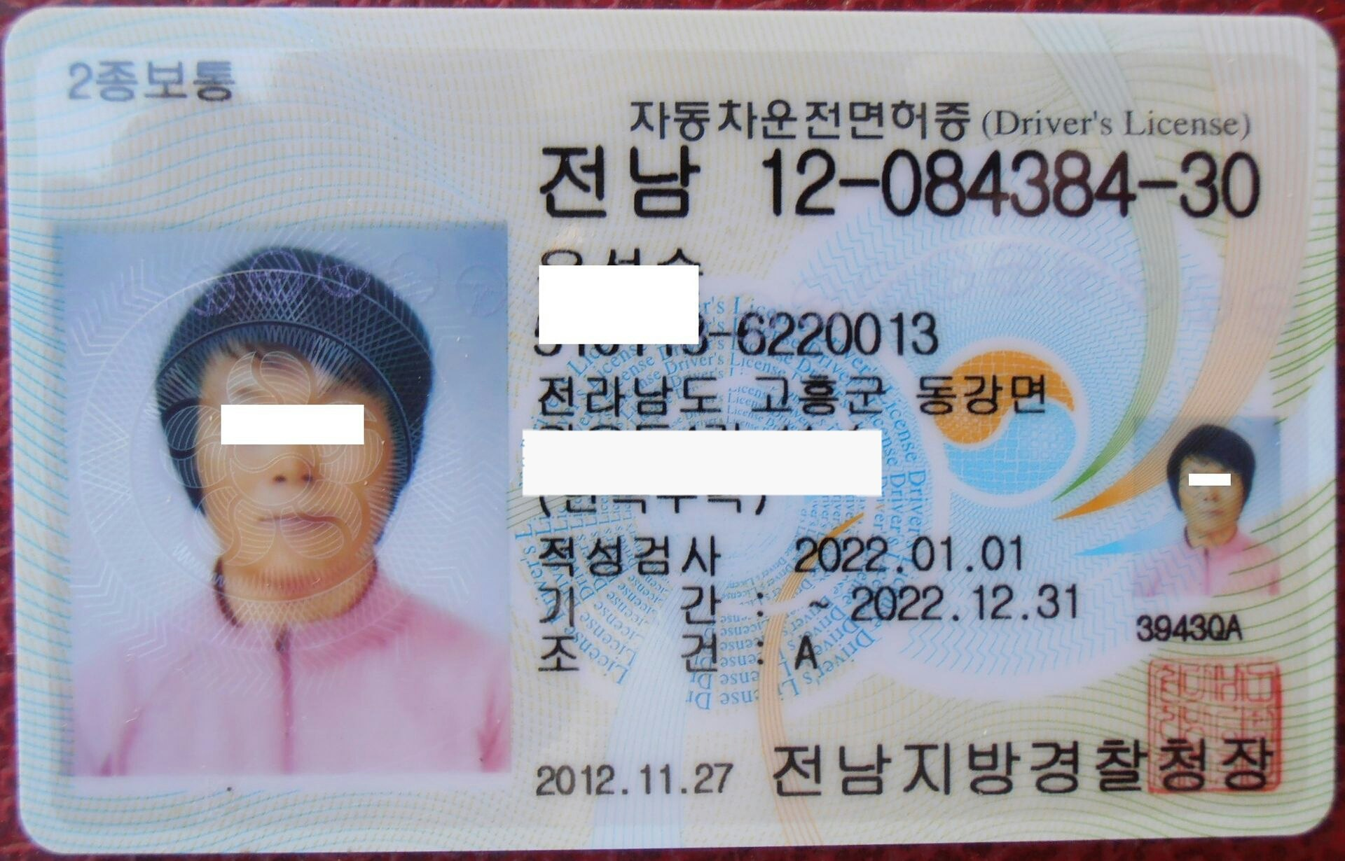 Driving license in south korea wikipedia for Wisconsin drivers license template