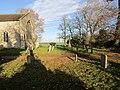 -2018-12-10 The churchyard, Saint Margaret of Antioch parish church, Suffield, Norfolk.JPG