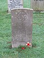 -2020-12-13 CWGC gravestone of G. Bush, Royal Sussex, Saint Andrew's, Bacton.JPG