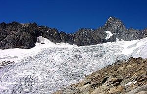 Aiguille de Triolet - Aiguille du Triolet from the Pré de Bar glacier