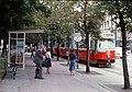 071L26220880 Karl Lueger Ring, Haltestelle Rathausplatz, Strassenbahn Linie D Typ E2 4030.jpg