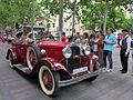 091 Fira Modernista de Terrassa, desfilada de cotxes d'època a la Rambla.JPG