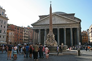 Pantheon, Rome - The Pantheon and the Fontana del Pantheon.