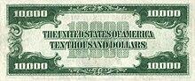 10000 USD note; series of 1934; reverse.jpg