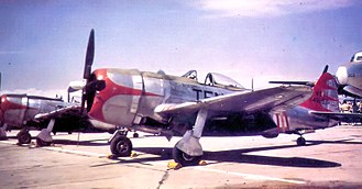 105th Airlift Squadron - A 105th Fighter Squadron P-47N 45-49253, about 1948