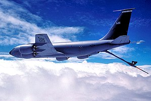 117th Air Refueling Wing - 106th ARS KC-135 with refueling boom extended
