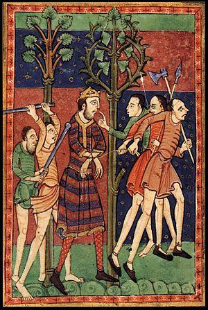 Ubba - Image: 12th century painters Life of St Edmund WGA15723