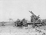 13 pounder 9 cwt AA gun and crew Omiécourt 1918 IWM Q 11023.jpg