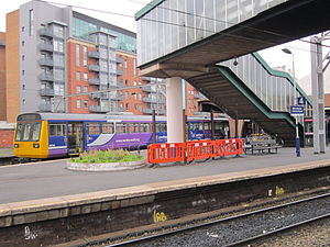 Manchester Oxford Road railway station - A Northern Rail Class 142 in platform 5, the former Altrincham bay