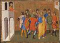 14 Jacopo di Cione Polyptych San Pier Maggiore, detail of predella. 1370-71 Museum of Art, Rhode Island.jpg
