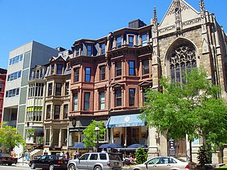 Newbury Street human settlement in Massachusetts, United States of America