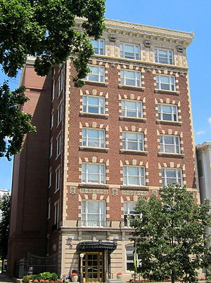 Albert S. Burleson - Burleson lived in this apartment/hotel on 16th Street NW while in Washington, D.C.