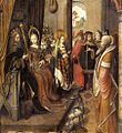 15th-century unknown painters - St Ursula Announces to her Father her Departure on a Pilgrimage to Rome - WGA23745.jpg
