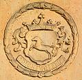1698 circa Siméon de la Chevallerie, Wappen an der Neustädter Hof- und Stadtkirche St. Johannis, Hannover.jpg