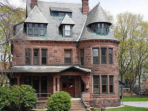 Norcross Brothers Houses - 18 Claremont Street, otherwise known as the Jeanne X. Kasperson Library of Clark University