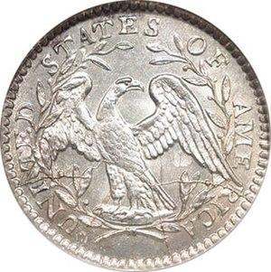 "Half dime - The 1794 ""Flowing Hair"" half dime, reverse"