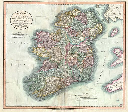 1799 Cary Map of Ireland - Geographicus - Ireland-cary-1799