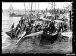 18-foot skiffs milling next to Clark Island, Sydney (7004232580).jpg