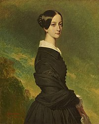 1844 portrait of Princess Francisca of Brazil (later Princess of Joinville) by Franz Xaver Winterhalter (Versailles).jpg
