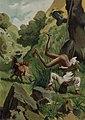 1879, El ingenioso hidalgo D. Quijote de la Mancha, Dió dos zapatetas en el aire, y dos tumbas cabeza abajo y los pies en alto, Mestres (cropped).jpg