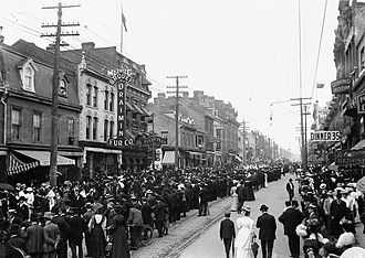 Labour Day - A Labour Day parade in Toronto, Ontario, Canada in the early 1900s