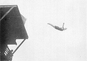 Diving at the 1912 Summer Olympics – Men's 10 metre platform - Toivo Aro who finished eighth in action.