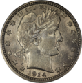 1914 Barber Quarter NGC AU58 Obverse.png