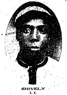 George Shively Negro League Baseball player