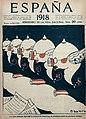 1918-09-19, España, Las almas alemanas, siguiendo los consejos de Hindenburg, se atrincheran contra las proclamas enemigas, Bagaría.jpg