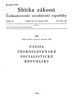 1960 Constitution of Czechoslovakia
