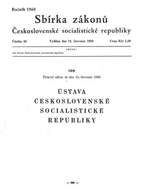 1960 Constitution of Czechoslovakia - 1960 Constitution of Czechoslovakia