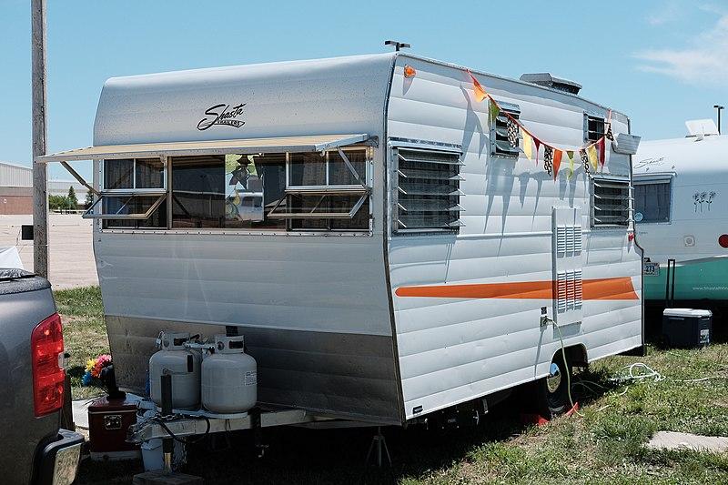 File:1966 Shasta travel trailer during 2019 Vintage Camper ...