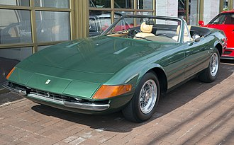 Ferrari Daytona - A 1973 Ferrari 365 GTS/4 (US-spec), one of only two Spyders finished in Verde Pino (Pine Green)