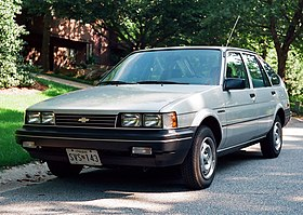 1988 Chevrolet Nova liftback when new, front left.jpg