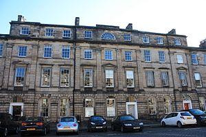 Marcus Dods (theologian born 1834) - Dods' impressive Edinburgh townhouse at 23 Great King Street, Edinburgh (centre)