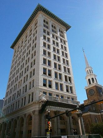 First National State Bank Building - Image: 1st Natl State Indigo Hotel Newark