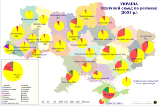 карта национального состава Украины