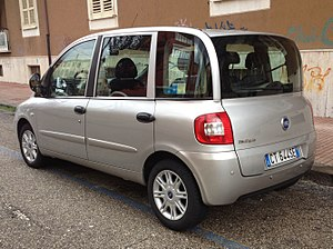 Fiat Multipla - 2004–10 Fiat Multipla facelift (rear)