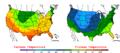 2006-05-11 Color Max-min Temperature Map NOAA.png