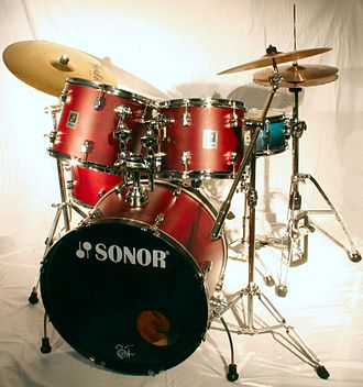Sonor - A drum-set made by Sonor, cymbals by Meinl and Paiste.