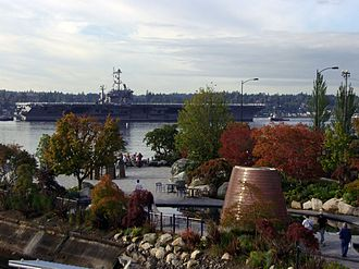 USS John C. Stennis - USS John C. Stennis arrives in Bremerton on 31 August 2007.