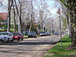 Residential street in the Alberta Avenue neighbourhood