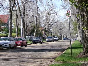 Alberta Avenue, Edmonton - Residential street in the Alberta Avenue neighbourhood