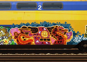 Ces53 - Graffiti on a train,by Ces53