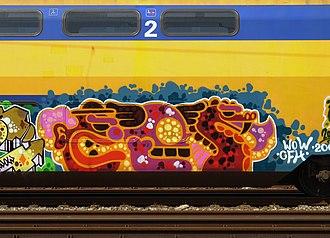Ces53 - Graffiti on a train,by Ces53