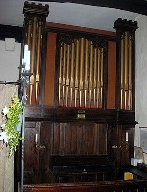 Arne, Dorset - Image: 2010 07 04 Orgel St. Nicolas Church Arne