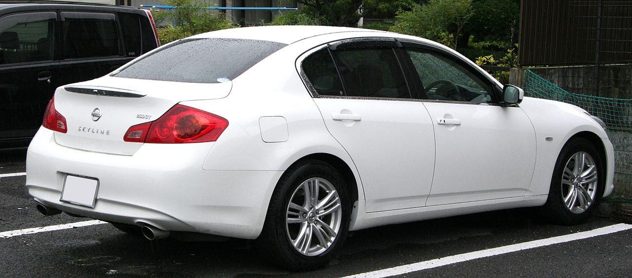 File2010 Nissan Skyline Sedan 250gt Rearg Wikimedia Commons