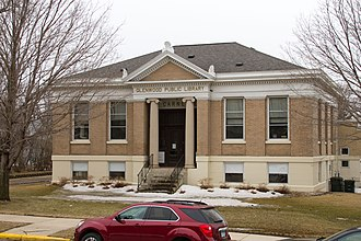 National Register of Historic Places listings in Pope County, Minnesota - Image: 2013 0408 Glenwood Public Library