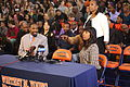 20131115 Jahlil Okafor's father, aunt and coach.JPG