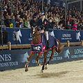 2013 Longines Global Champions - Lausanne - 14-09-2013 - Lucy Davis et Barron pendant le tour d'honneur.jpg